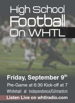 High School Football Whitehall at Independence/Gilmanton @ Independence High School