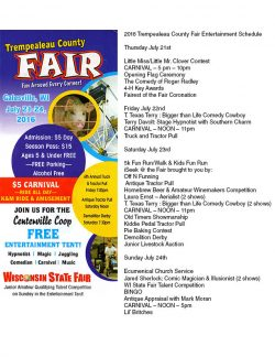 Trempealeau County Fair @ Fairgrounds Gailesville