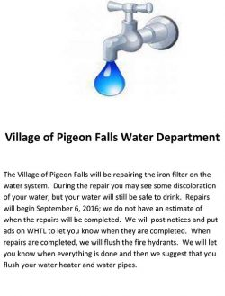 Pigeon Falls Water Department