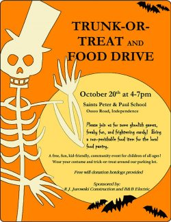 Trunk-Or-Treat and Food Drive @ Ss. Peter & Paul School