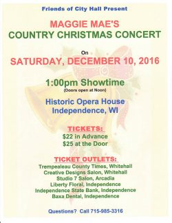 Maggie Mae's Country Christmas Concert @ Historic Opera House Independence