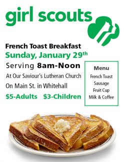 Girl Scout French Toast Breakfast