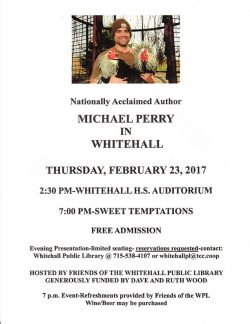 Nationally Acclaimed Author Michael Perry In Whitehall