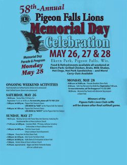 Pigeon Falls Memorial Day Celebration